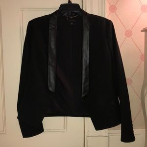 ANN TAYLOR Leather Lined Blazer
